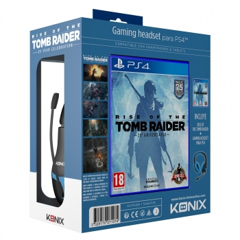 Pack Headset Konix con Rise of the Tomb Raider para PS4