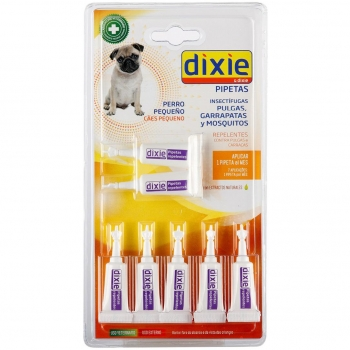 Pack Pipetas Insectífugas para Perro Pequeño 7X1 Ml Dixie