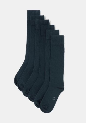 Pack de tres calcetines altos unisex para uniforme (tallas 24 a 41) TEX