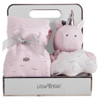 Manta y Peluche Unicornio Little Kids
