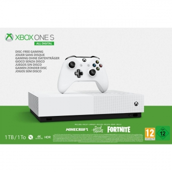 Xbox One S 1TB All Digital +Fortnite + SOT + Minecraft