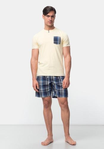 Pijama Corto Estampado para Hombre TEX