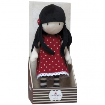 Gorjuss - Muñeca de Trapo Roja New Height 30 cm