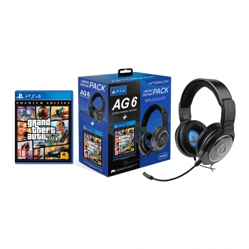 Pack Headset Gaming AG6 + Grand Theft Auto V para PS4