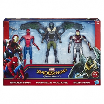 Hasbro- Spiderman Web City Figure 3 Pack 15 cm