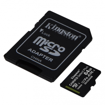 Micro SD Kingston Selecta Plus 64GB con Adaptador SD