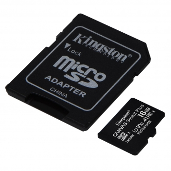 Micro SD Kingston Select Plus 16GB con Adaptador SD