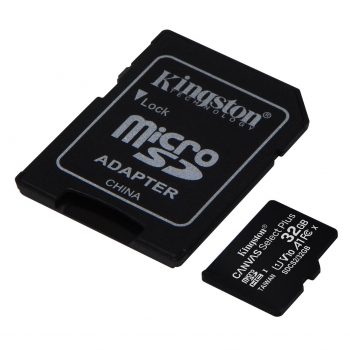 Micro SD Kingston Canvas Select Plus 32GB con Adaptador SD
