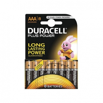 Pack de 8 Pilas Alcalinas Uso Frecuente Duracell Lr03 (Aaa) Plus