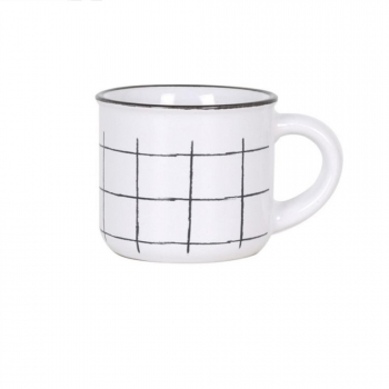 Set de 4 Tazas Café SANTA CLARA Cloth - Blanco