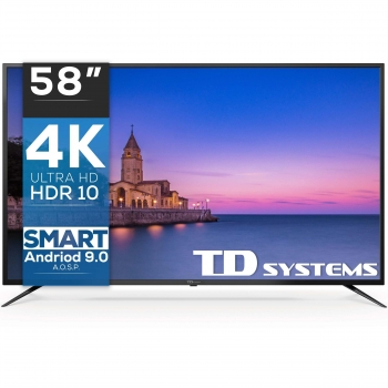 TV LED 147,32 cm (58'') TD Systems K58DLJ10US, 4K UHD, Smart TV