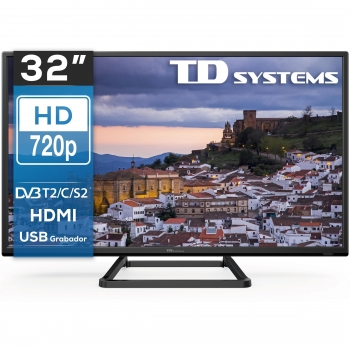 "TV LED 81,28 cm (32"") TD Systems K32DLM10H, HD"