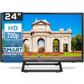 "TV LED 60,96 cm (24"") TD Systems K24DLX10HS, HD, Smart TV"