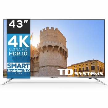 "TV LED 109,22 cm (43"") TD Systems K43DLJ10US, 4K UHD, Smart TV"