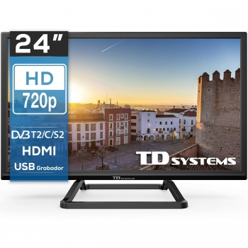 "TV LED 60,96 cm (24"") TD Systems K24DLM10H, HD"