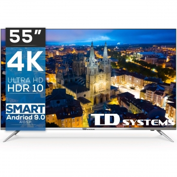 "TV LED 139,7 cm (55"") TD Systems K55DLJ10US, 4K UHD, Smart TV"