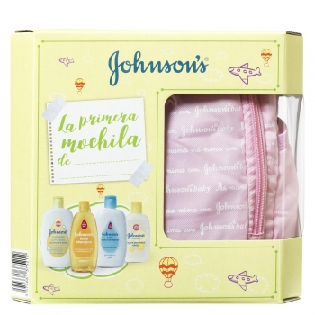 Mochila Rosa Johnsons Baby