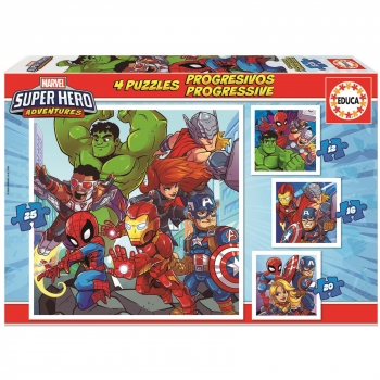 Puzzle Educa Progresivos Marvel Super Heroes Adventures