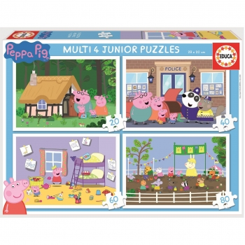 Puzzle Educa Multi 4 Junior Peppa Pig