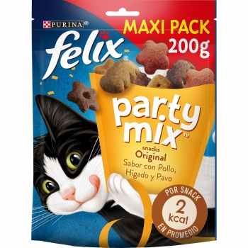 Snack Gatos Purina Felix Party Mix Original Mix Maxi Pack 200g