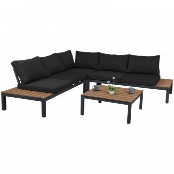 Rinconera con dos bancos + sofá + mesa - Nara