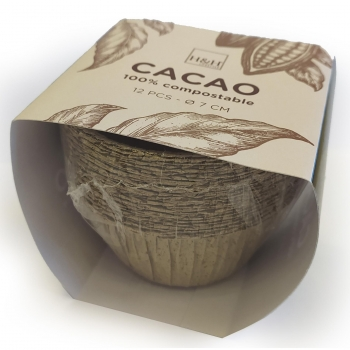 Moldes Cacao Muffin Papel HABI 12 ud 7x4 cm