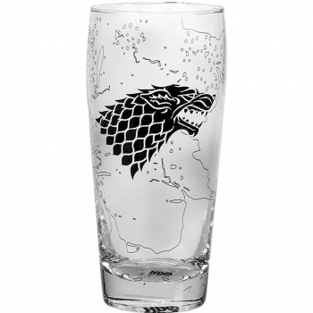 Vaso de Cristal GAME OF THRONES King in the North 8x8x15 cm