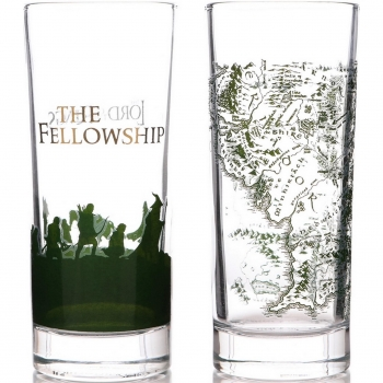Set de 2 Vasos Cristal THE LORD OF THE RINGS