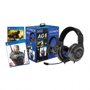 Pack PS4 Headset Gaming AG6 + Dark Souls III + The Witcher 3: Wild Hunt