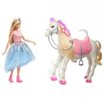 Barbie - Princess Adventure Caballos, mascotas con accesorios