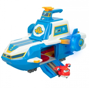 Super Wings - Aeropuerto volador Super Charge Super Wings con figura Jett transformable