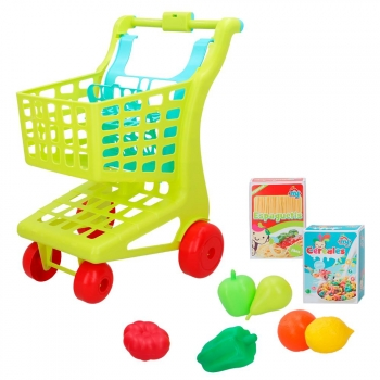 My Home Colors - Carrito supermercado con alimentos