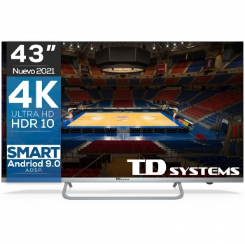 "TV LED 109,22 cm (43"") TD Systems K43DLX11US, 4K UHD, Smart TV"
