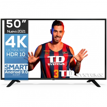 "TV LED 127 cm (50"") TD Systems K50DLJ11US, 4K UHD, Smart TV"