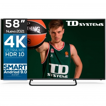 "TV LED 147,32 cm (58"") TD Systems K58DLX11US, 4K UHD, Smart TV"