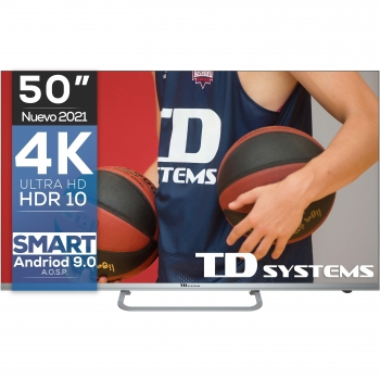 "TV LED 127 cm (50"") TD Systems K50DLX11US, 4K UHD, Smart TV"