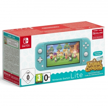Nintendo Switch Lite Turquesa + Animal Crossing New Horizons + 3 meses Switch Online