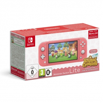 Nintendo Switch Lite Coral + Animal Crossing New Horizons + 3 meses Switch Online