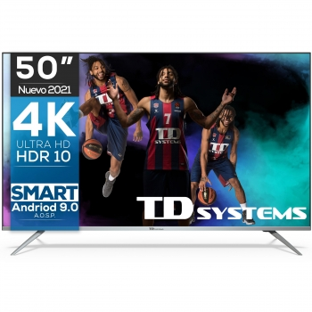"TV LED 127 cm (50"") TD Systems K50DLJ12US, 4K UHD, Smart TV"