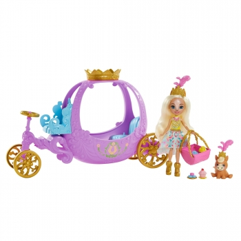 Royal Enchantimals - Muñeca y pony con carruaje real, mascota y accesorios de juguete