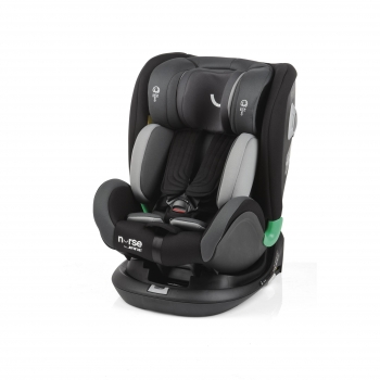 Silla de Auto Grupo 0/1/2/3 Contramarcha Isofix Top Tether 360º Giratoria Cruise Nurse By Jane