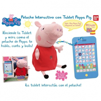Peppa Pig - Peluche Interactivo con Tablet