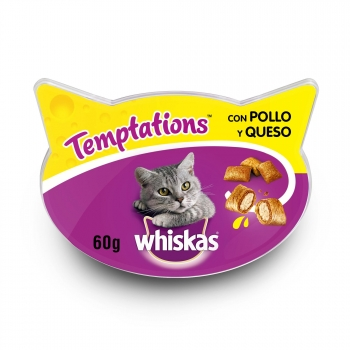 Snacks para Gatos Whiskas Temptations con Pollo 60 gr