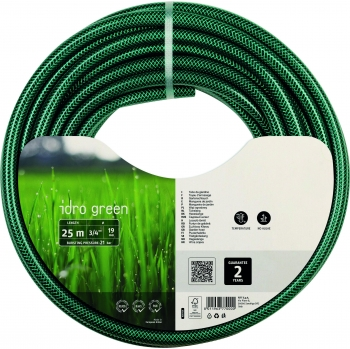 Manguera hidro color verde 19 mm x 25 m