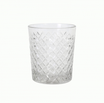 Set de 3 Vasos de Vidrio Diamond 36 cl HOME STYLE - Transparente