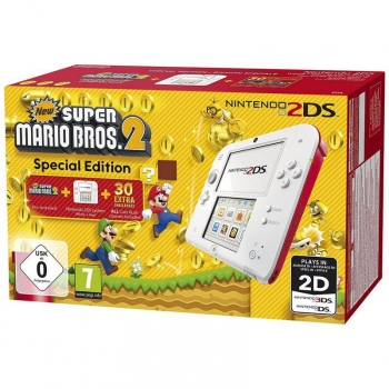 2DS Blanco/Rojo con New Super Mario Bros 2 (Preinstalado)