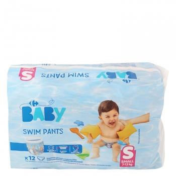 bf3406b356a4 Pañales Bañador Carrefour Baby Small Talla 4 (7-13 kg) 12 uds