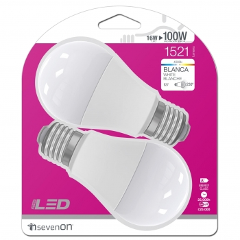 2 Led Estandar 16WE27 Blanca
