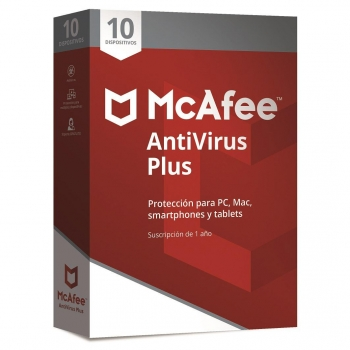 Antivirus McAfee Plus 10 Dispositivos 2018