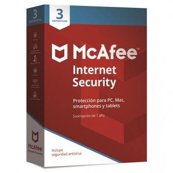 Antivirus McAfee Internet Security 3 Dispositivos 2018